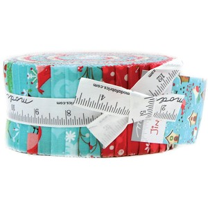 Moda Jingle Birds Jelly Roll by Keiki