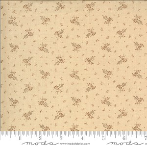 Moda Hopewell Leaf Berry Cream Fabric by Jo Morton