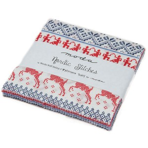 Moda Nordic Stitches Charm Pack by Wenche Wolff Hatling