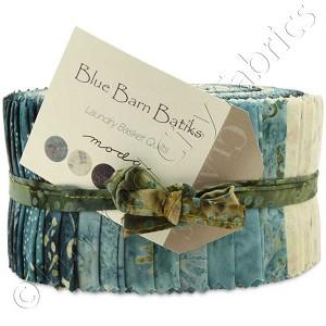 Moda Blue Barn Batiks Jelly Roll Emerald City Fabrics