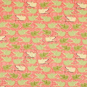 In The Beginning Bees and Birds Peach Fabric