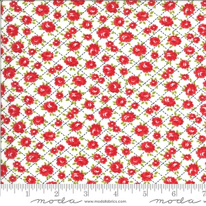 Moda Shine On Roses White Fabric by Bonnie & Camille