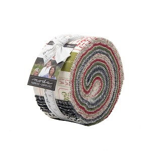 Moda The Christmas Card Jelly Roll by Sweetwater