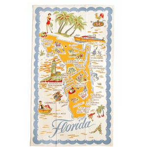 Moda Home Florida State Cotton-Linen Tea Towel