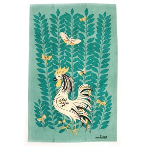 Moda Home Spring Chicken Reproduction Cotton-Linen Dish Towel
