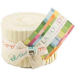Moda Bella Solids Fig Tree Cream Junior Jelly Roll