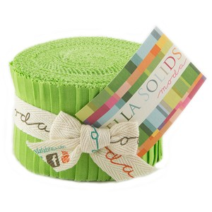 Moda Bella Solids Lime Junior Jelly Roll