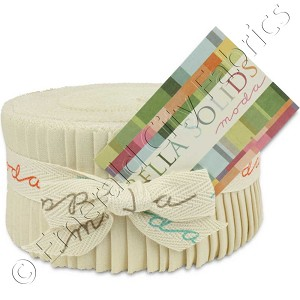 Moda Bella Solids Natural Jelly Roll