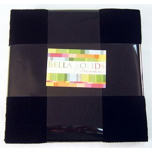 Moda Bella Solids Black Layer Cake