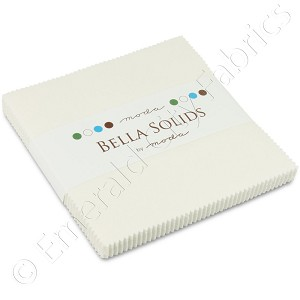 Moda Bella Solids White Bleached Charm Pack