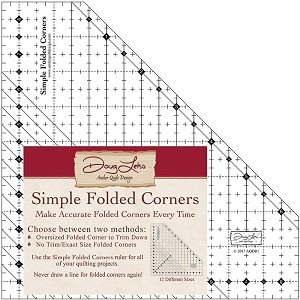 Antler Quilt Design Simple Folded Corners Quilting Ruler by Doug Leko