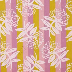 Free Spirit Anna Maria Horner Chocolate Lollipop Vertical Floral Stripe Rose Pink Fabric