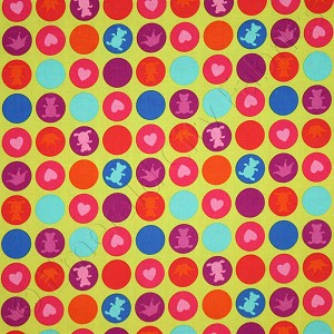 Michael Miller Playdate Gum Drops Lime Green Fabric