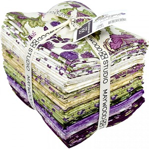 Maywood Studio Aubergine Fat Quarter Bundle by Debbie Beaves