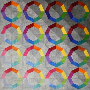 Maywood Studio Shadow Play Spectrum Quilt Kit