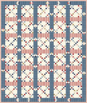 Moda Northport Prints Quilt Kit by Minick & Simpson
