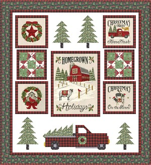 Moda Homegrown Holidays The Perfect Tree Quilt Kit by Deb Strain