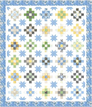 Moda Spring Brook Patchy Stars Quilt Kit by Corey Yoder of Little Miss Shabby