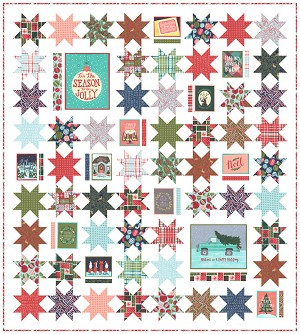 Moda To Be Jolly Quilt Kit by One Canoe Two