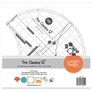 The Clammy 12-Inch Quilting Template by Latifah Saafir Studios
