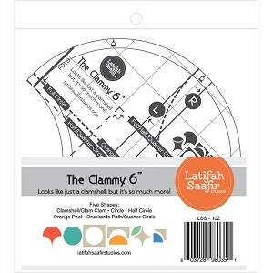 The Clammy 6-Inch Quilting Template by Latifah Saafir Studios