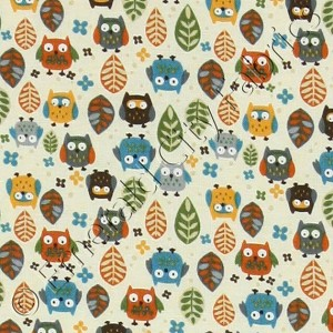 Timeless Treasures Mini Owls Cream Fabric