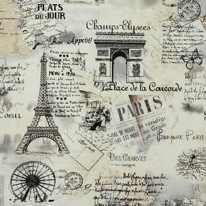 Timeless Treasures April In Paris Cream Fabric Emerald