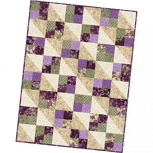 Maywood Studio Aubergine Four Square Quilt Pod Kit by Debbie Beaves