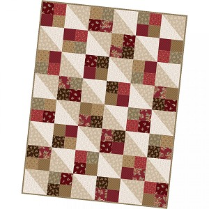 Maywood Studio Ruby Four Square Quilt Pod Kit by Bonnie Sullivan