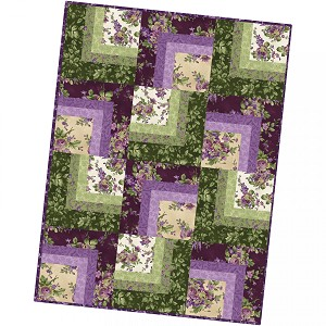 Maywood Studio Aubergine Corner Cabin Quilt Pod Kit by Debbie Beaves