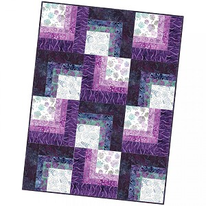 Maywood Studio Coastal Getaway Batiks  Corner Cabin Quilt Pod Kit by Monique Jacobs