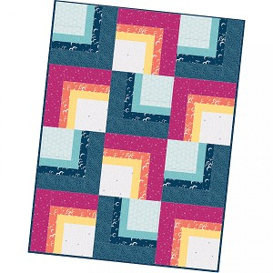 Maywood Studio Moongate Corner Cabin Quilt Pod Kit by Christina Cameli