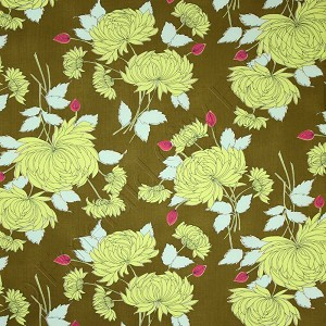 Amy Butler Belle Chrysanthemum Olive Fabric
