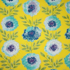 Free Spirit The Painted Garden Rose Yellow Fabric