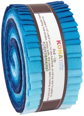 Robert Kaufman Kona Cotton Sky Gazer Jelly Roll Up