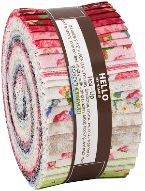 Robert Kaufman Farmhouse Rose Jelly Roll by Lynnea Washburn