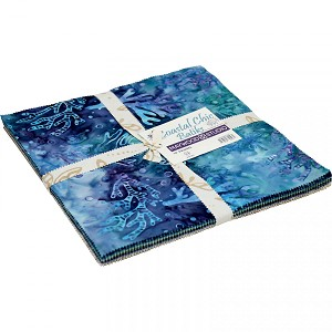 Maywood Studio Coastal Chic Batiks Layer Cake by Monique Jacobs