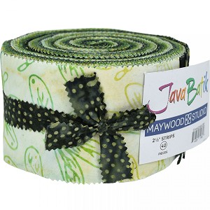 Maywood Studio Java Batiks Jelly Roll Village Green