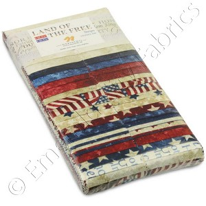 Northcott Stonehenge Land of the Free Stars and Stripes Strip Pack