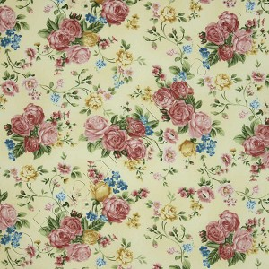 Timeless Treasures High Tea Roses Cream Fabric